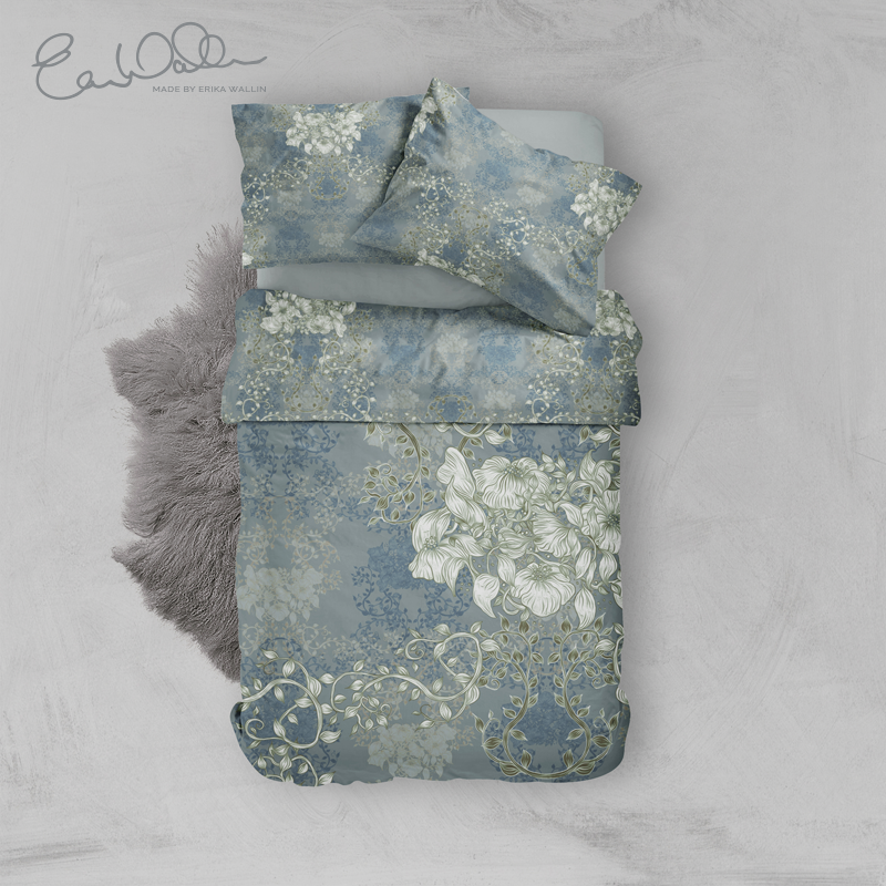 Bedset Green Paradise Pleasant With Flowers Erika Wallin