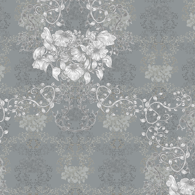 Romantic Grey Pleasant With Flower